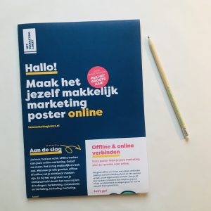 Maak het jezelf makkelijk marketing poster online